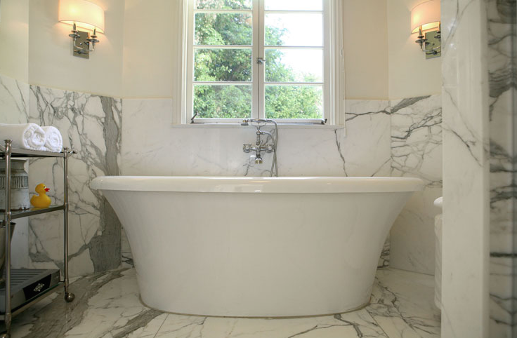 Calcutta Marble Transitional Bathroom Jeneration