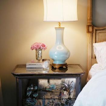 Blue Nightstand Lamps Bedroom