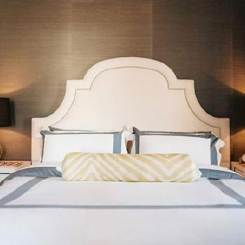 Greek Key Nightstands, Contemporary, bedroom, Lonny Magazine