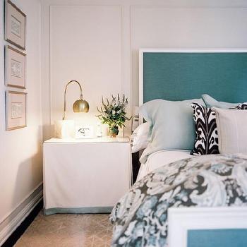 Turquoise Headboard, Contemporary, bedroom, Jeneration Interiors