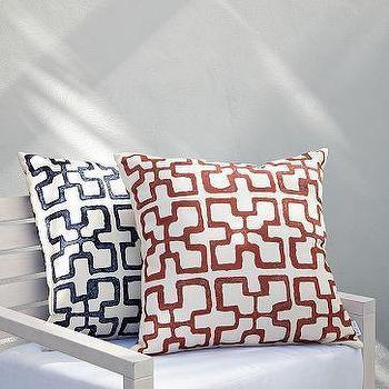 Outdoor Grecian Block Pillows, west elm