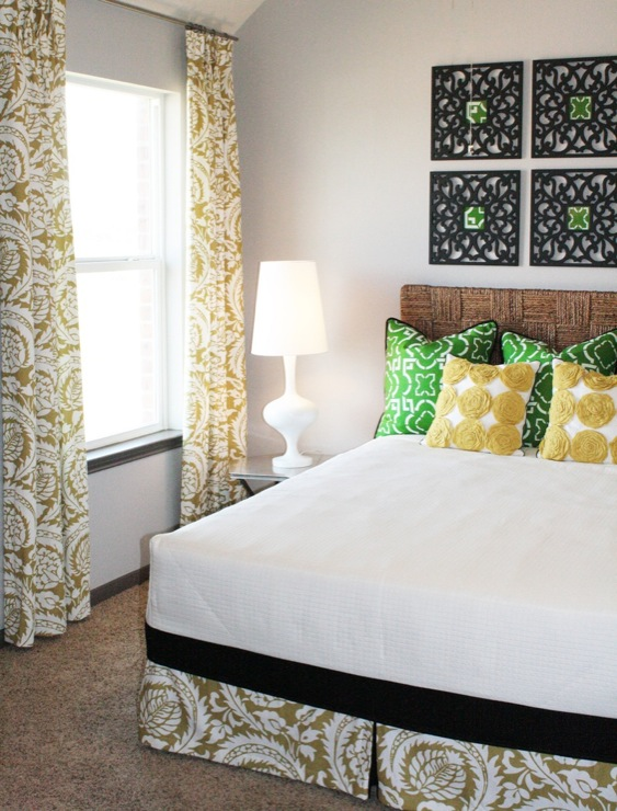 view full size  Whimsical yellow   green bedroom design. Sage Green Bedrooms Design Ideas