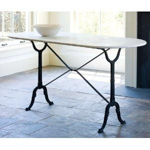 Amazon Com Marble Brasserie Table By America Retold