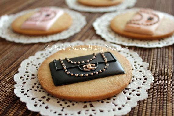 CHANEL Classic Handbag Cookies 6 Cookies by katiesomethingsweet
