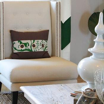 Chevron Curtains, Contemporary, living room, Charm Home Design