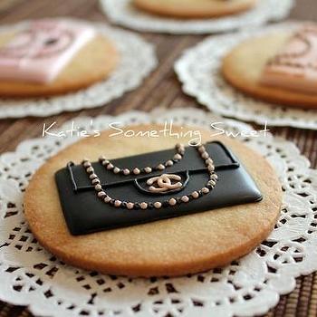 CHANEL Classic Handbag Cookies 6 Cookies by katiesomethingsweet