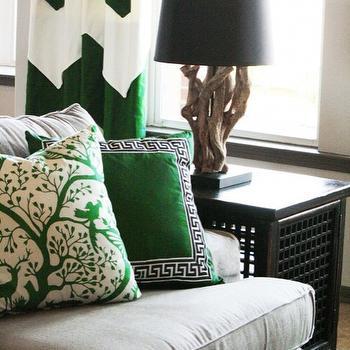 Chevron Drapes, Contemporary, living room, Charm Home Design