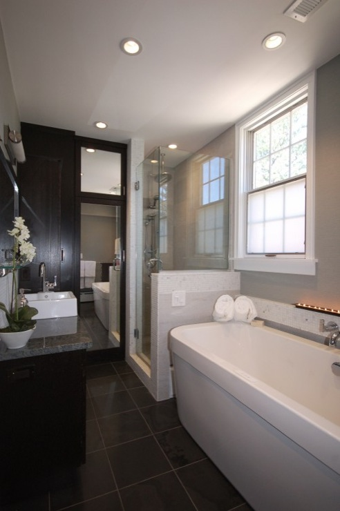 Contemporary bathroom ideas contemporary bathroom Bathroom designs with separate tub and shower