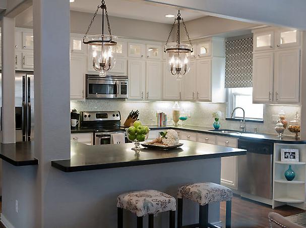 Kitchens With Gray Walls gray glass lanterns design ideas