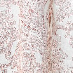 Printed Linen Beige/ Rust Curtain Panel (India), Overstock.com