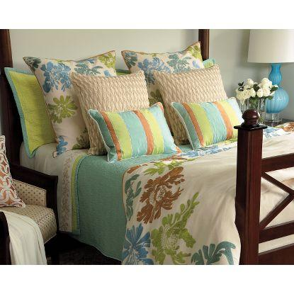 Bedding in Aqua ( Pattern, Sham) - Fine Quilts and Shams from ... : company c quilts - Adamdwight.com