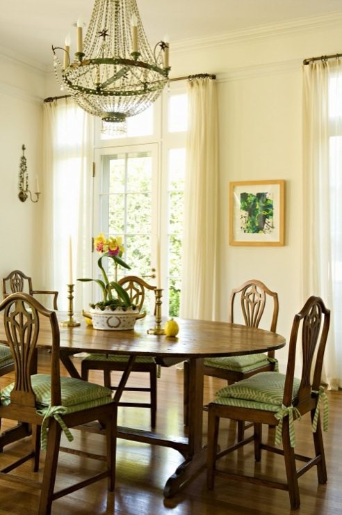 Ivory Dining Room Curtains Design Ideas