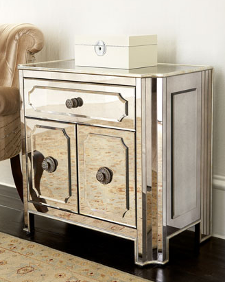 Mirrored Nightstand Look 4 Less And Steals And Deals