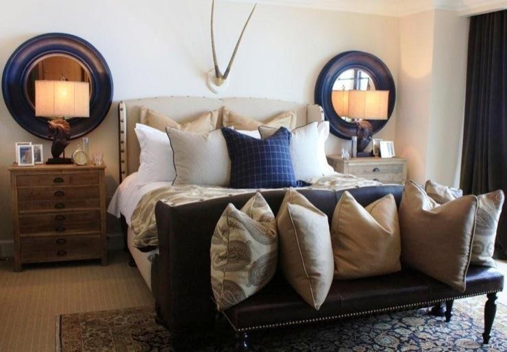 Navy Blue Mirror Country Bedroom Benjamin Moore