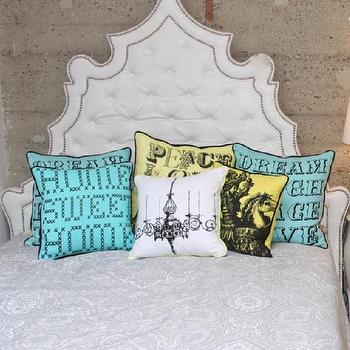 www.roomservicestore.com, Casablanca Headboard in White Tufted Faux Leather, Headboard Only