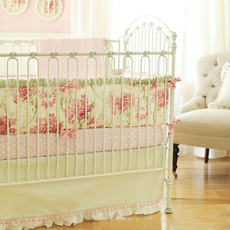 Ruffled Crib Skirt Cottage Nursery New Arrivals Inc
