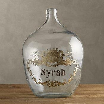 1920s Hand-Blown Wine Bottle Syrah, Objêts D'Art, Restoration Hardware