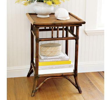 Classic Rattan Bedside Table Pottery Barn