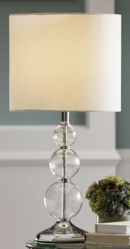 Pottery barn stacked crystal lamp look 4 less country door stacked ball lamp view full size aloadofball Images
