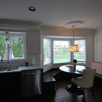 Built In Banquette, Transitional, kitchen