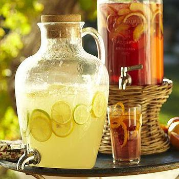 Glass Double Drink Dispenser Pottery Barn