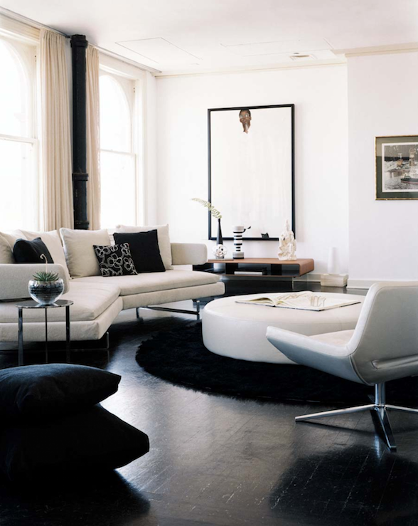 Round Leather Ottoman Design Ideas