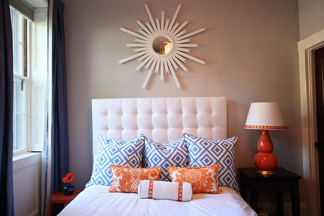 Wall Colour Inspiration: White Tufted Headboard