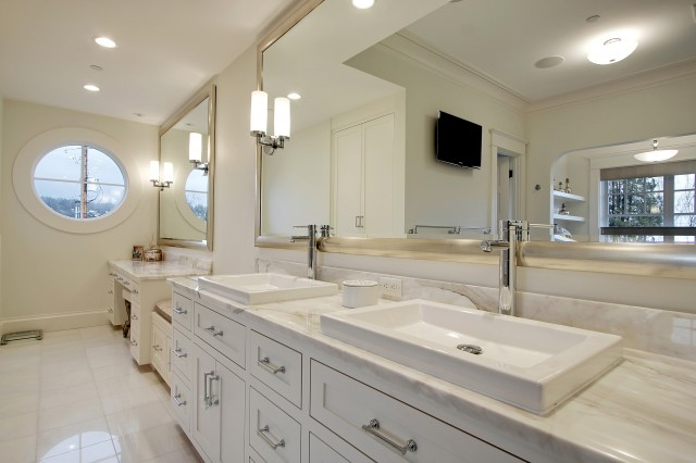 white double vanity design ideas