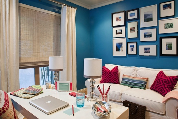 view full size blue office walls