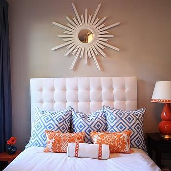White Tufted Headboard, Contemporary, bedroom, Gorgeous Shiny Things