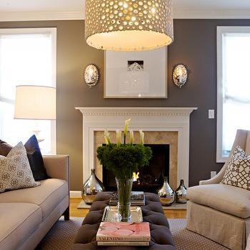 Gray Walls, Contemporary, living room, Pratt and Lambert Durability, Heather Garrett Design