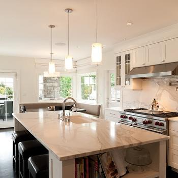 Calcutta gold Marble Countertop, Transitional, kitchen, Paul Moon Design