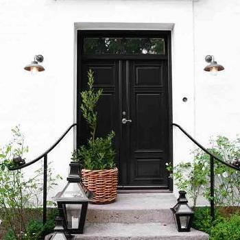 Black Double Front Doors Design Ideas
