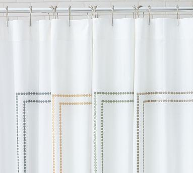 Pearl Embroidered Shower Curtain - Pottery Barn