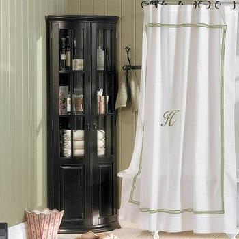 Newport Monogrammed Shower Curtain Neiman Marcus