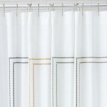 Grand Embroidered Shower Curtain - Pottery Barn