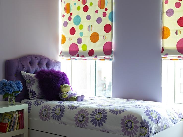 Purple Headboard Contemporary Girl S Room Bella