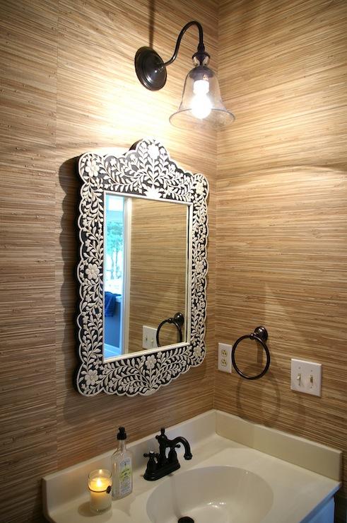wisteria wallpaper bathroom - photo #38