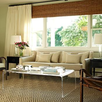 Acrylic Waterfall Coffee Table, Transitional, living room, Bella Mancini Design