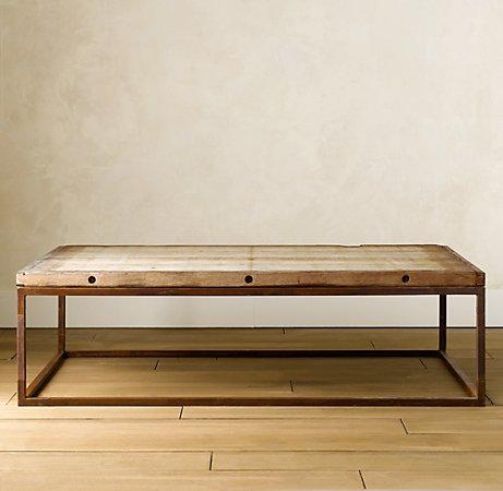 Brickmakeru0027s Table   Coffee Tables   Restoration Hardware
