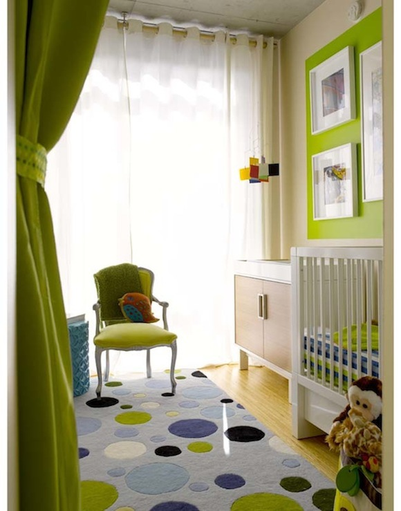 Blue And Green Curtains Design Ideas