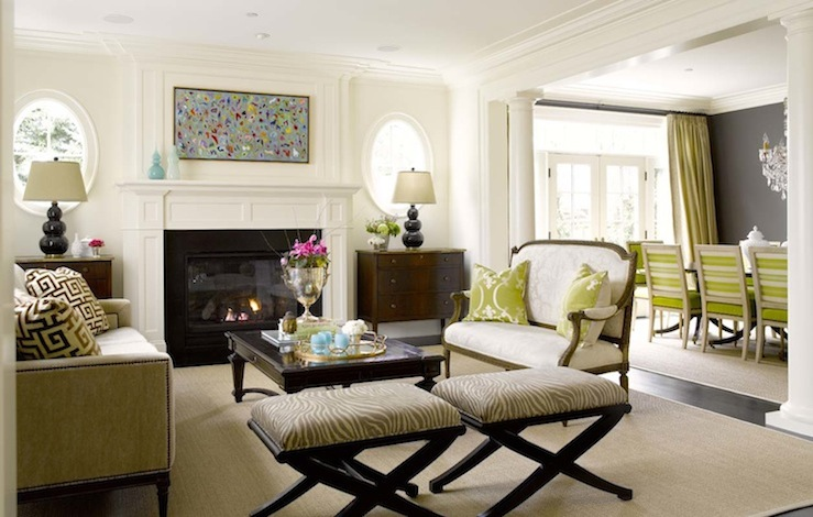 Good Settee In Living Room Part - 5: Oval Windows