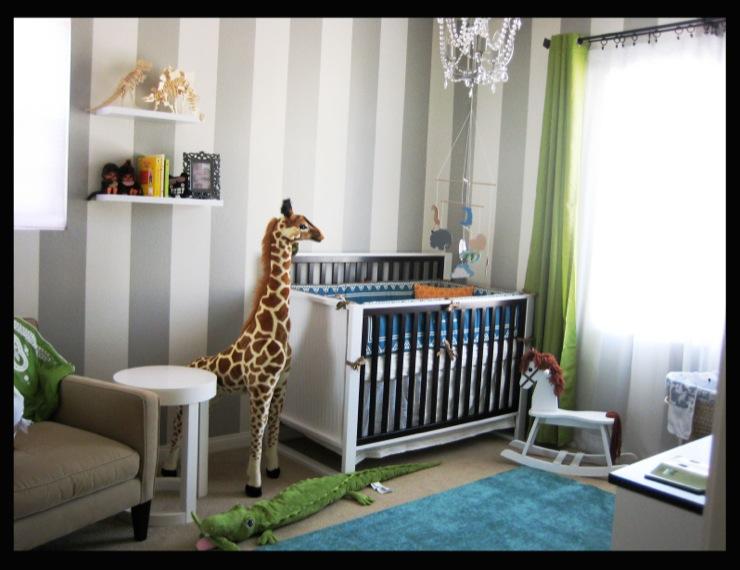 Striped Nursery Ideas Contemporary Nursery Valspar