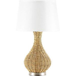 Walmart rattan table lamp with silk fabric shade decor aloadofball Choice Image