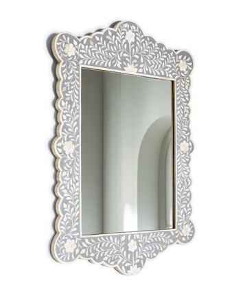 Horchow bone inlay mirror look 4 less for Decorative mirrors for less