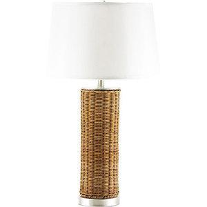 Nate Berkus Woven Rattan Round Table Lamp Base