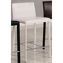 Euro Design White Bicast Leather Counter Stools (Set of 2), Overstock.com
