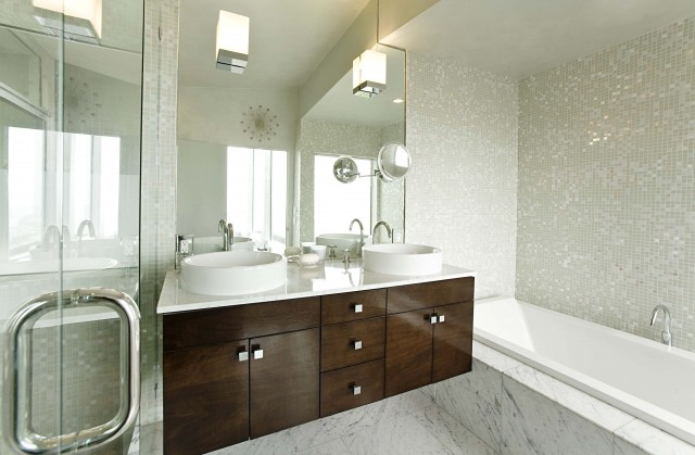 Bathroom Vanity Veneer veneer bathroom cabinets - contemporary - bathroom