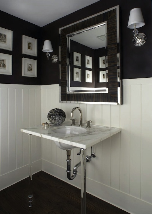 Lucite Washstand Transitional Bathroom Carlos