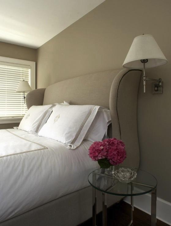 Upholstered Wingback Bed Transitional Bedroom Carlos Miranda Design